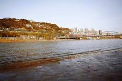 Lanzhou City. Baita Mountain, Yellow River Tieqiao, Lanzhou royalty free stock photography