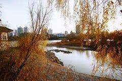 Lanzhou City. Baita Mountain, Yellow River Tieqiao, Lanzhou stock photography