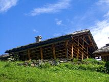 Baita Walser. Shot of a walser tipical hut Royalty Free Stock Images