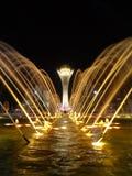 Baiterek la nuit photo libre de droits
