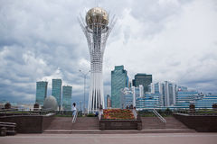 Baiterek - a monument in the capital of Kazakhstan, Astana, one of the main attractions of the city Stock Photos