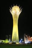 Baiterek at night. Baiterek landmark, symbol of Astana, capital of Kazakhstan Royalty Free Stock Photo