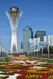 The BAITEREK tower in Astana Royalty Free Stock Photography