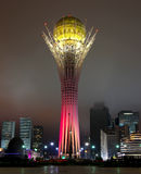 Baiterek. Tower in Astana, Kazakhstan. Night view Royalty Free Stock Images