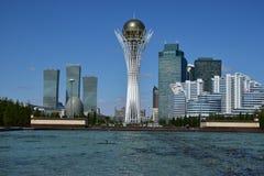 The BAITEREK tower in Astana Royalty Free Stock Images