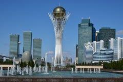 The BAITEREK tower in Astana Stock Images