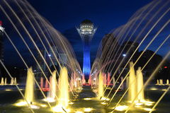 Baiterek. Tower and fountain in Astana Royalty Free Stock Photography