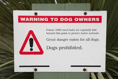 Baiting warning sign royalty free stock photos