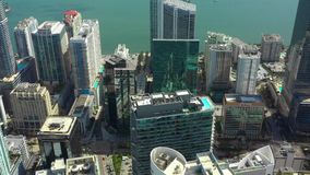 Baixa aérea Miami FL da metragem do zangão filme