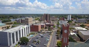 Baixa Alexandria Louisiana Rapides Parish EUA da vista aérea filme