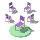 Baixa cadeira poli do vetor Fotografia de Stock Royalty Free