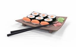 Baixa coleção poli do sushi Foto de Stock