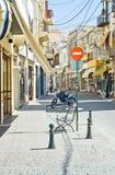 Baixa de Chania, Crete, Greece foto de stock