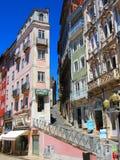 Baixa de Coimbra. Rua Ferreira Borges, Coimbra - Portugal Royalty Free Stock Images