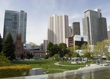Baixa de San Francisco, Yerba Buena Park, San Francisco, Califórnia, EUA fotos de stock royalty free