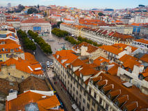Baixa district, Lisbon, Portugal Royalty Free Stock Images