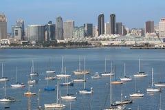 Baixa e porto de San Diego imagem de stock royalty free