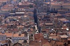 Baixa flyg- sikt Lissabon royaltyfri foto