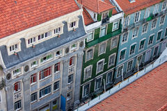 Baixa Houses in Lisbon from Above Royalty Free Stock Image