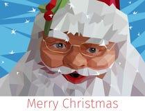 Baixa ilustração poli de Santa Claus Foto de Stock Royalty Free