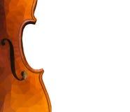 Baixa ilustração poli do fim acima do violino Fotos de Stock Royalty Free
