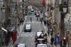 Baixa Lisboa Portugal Fotografia de Stock