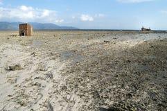 Baixa maré na linha costeira Foto de Stock Royalty Free
