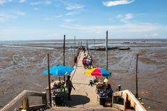 Baixa maré na praia imagem de stock