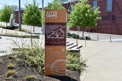 Baixa Nashville do marcador do parque do beira-rio, Tennessee imagens de stock