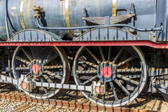 Baixa peça de uma locomotiva velha Fotografia de Stock Royalty Free