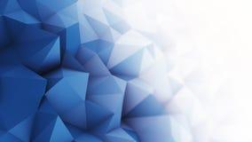 Baixa rendição poli branca azul da superfície 3D Foto de Stock