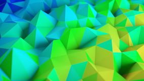 Baixa rendição poli colorida da superfície 3D Fotografia de Stock