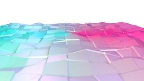 Baixa superfície 3D poli cor-de-rosa azul simples abstrata como o fundo da complexidade Baixo fundo poli geométrico macio do movi ilustração royalty free