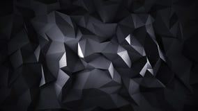 Baixa superfície 3D poli preta Imagens de Stock Royalty Free