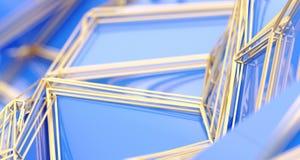 Baixa superfície poli Triangulated abstrata ilustração stock