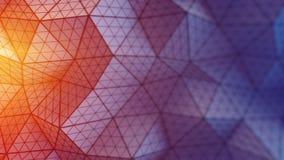 A baixa superfície triangulated poli 3D rende a ilustração ilustração do vetor