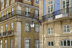 Baixa urban district of Lisbon. Royalty Free Stock Photo