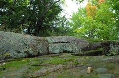 Baixa vista do monte da rocha Imagens de Stock