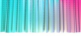 Baixas cortinas 3D polis cor-de-rosa azuis simples abstratas e cristais brancos de voo como o contexto agradável Baixo poli geomé ilustração stock
