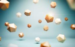 Baixas esferas polis ilustração stock