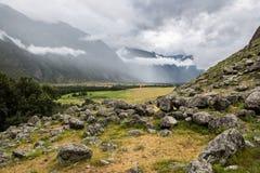 Baixas nuvens Imagens de Stock
