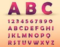 Baixo alfabeto colorido poli Fotos de Stock Royalty Free