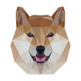 Baixo cão poli ilustração do vetor