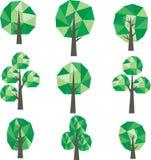 Baixo clipart poli das árvores ilustração do vetor