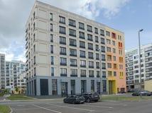 Baixo complexo de apartamentos moderno novo da elevação Moscovo, Rússia Imagens de Stock