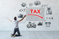 Baixo conceito do imposto Fotografia de Stock