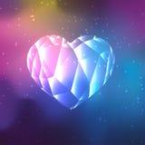 Baixo coração de cristal poli ilustração stock