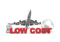 Baixo custo e plano ilustração do vetor