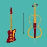 Baixo e violoncelo Imagem de Stock