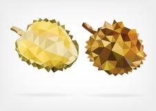 Baixo fruto poli do Durian Fotografia de Stock Royalty Free